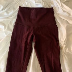 Maroon lulu wunder under leggings